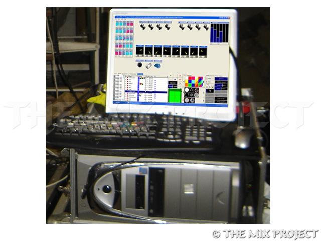 PC met visual Dmx lightjockey - 17inch TFT