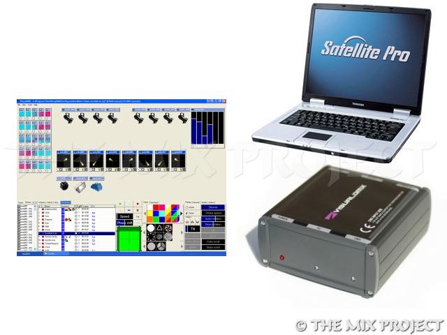 Laptop met visual dmx lightjockey