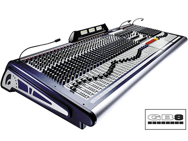 Soundcraft GB8 - 32/8/4 PA mixer tafel