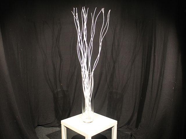 Verhuur glazen vaas met witte decoratie takken glazen vaas met witte decoratie takken huren - Decoratie witte lounge ...