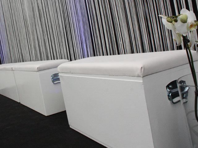 Witte Loungebank 1m