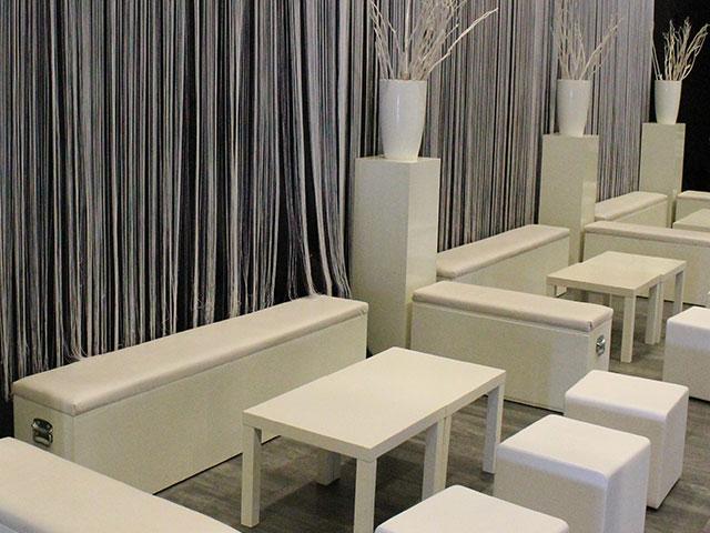 Witte Loungebank 2m