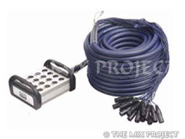 XLR Multisnake 12 in 4 out 30m