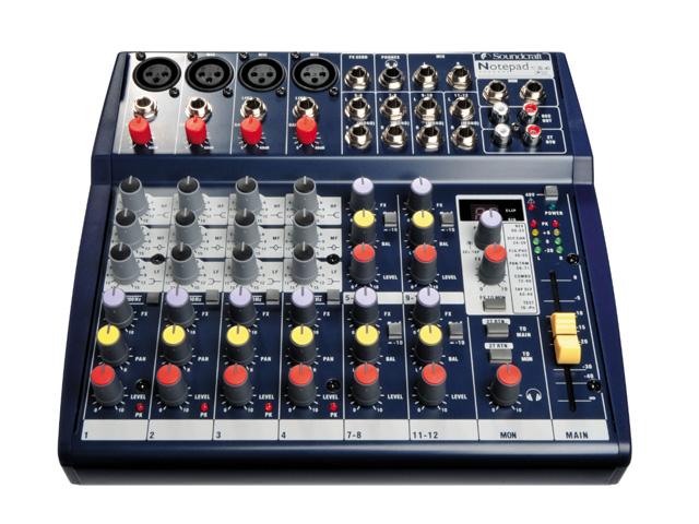 Soundcraft Notepad 124 Fx (4 mono + 4 stereo)