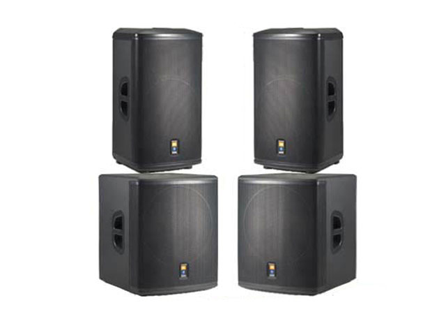 JBL Pro actieve geluidsset PRX 512M +  subs