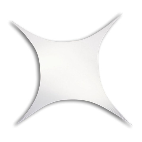 Stretchdoek vierkant 2m50 x 2m50 rekbaar tot 3m00 x 3m00