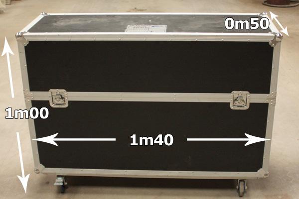 Flightcase voor 2 televisies