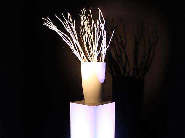 Verhuur witte vaas met takken witte vaas met takken huren - Decoratie witte lounge ...