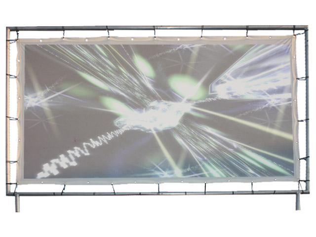 Retroprojectiescherm (3m00 x 1m70)