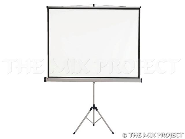 Projectiescherm op voet (1m50 x 1m14)
