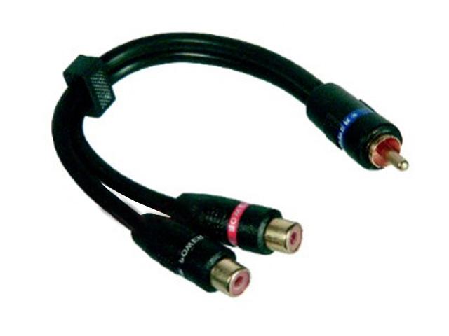 Cinch splitter Y kabel 1x male-2x female