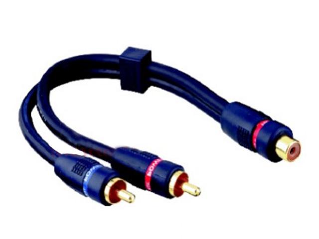 Cinch splitter Y kabel 1x female-2x male