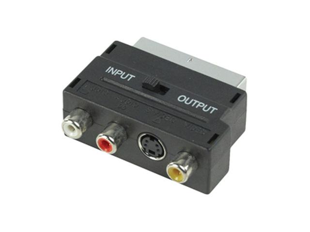 Scart verloopstekker (met in/out switch)
