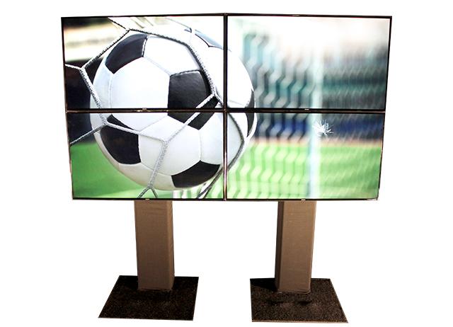 Videowall 4x55inch HD LED schermen