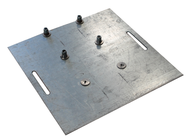 Vloerplaat 70 x 70cm - 20 kg - metallic